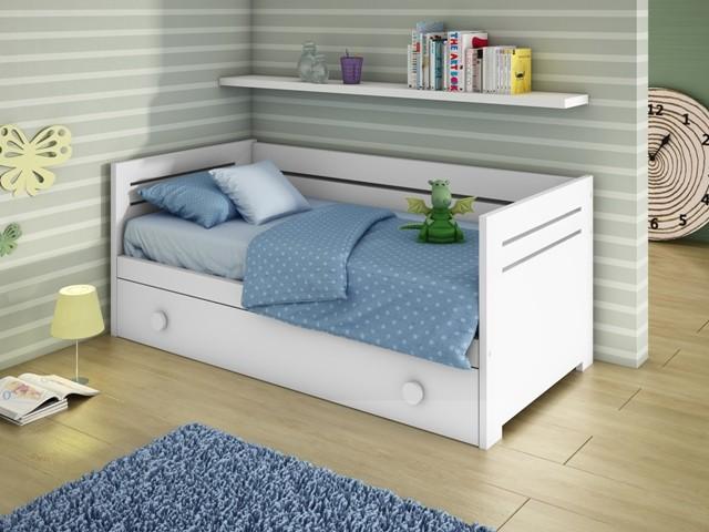 Camas nido cama infantil cama nido lacada mueble infantil - Cama nido blanca con cajones ...