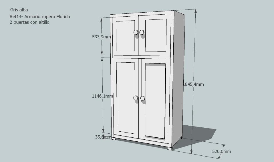 Armarios a medidas armario a medida en buhardilla en - Medidas de un armario ...