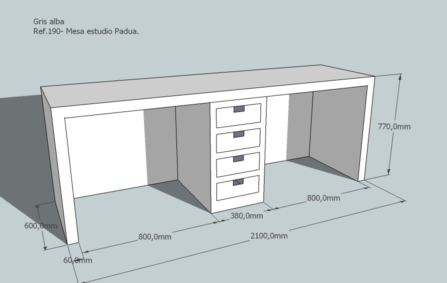 Mesa estudio mesa lacada mesas infantiles mesa infantil - Mesa de estudio blanca ...